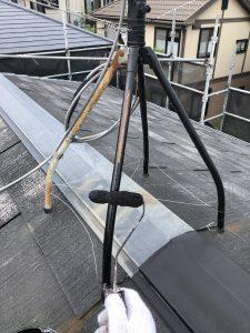 現場レポート① 伊勢原市A様邸-5 屋根塗装工事   本体部分 (8月27日)